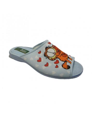 Zapatilla para casa descalza Garfield