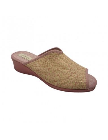 Zapatilla con cuña descalza flores 3217