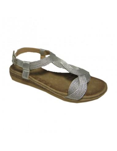 Sandalia muy blanda plata