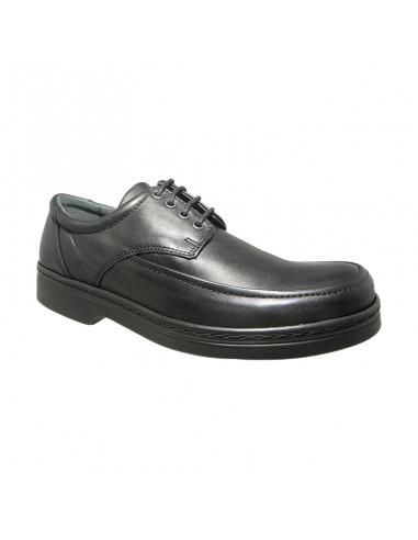 Zapato con cordón de piel