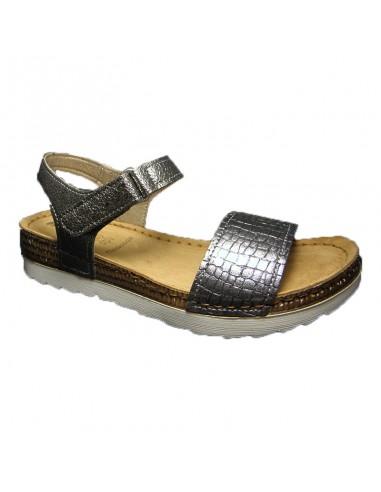 Sandalia tiras comoda blanco OF024