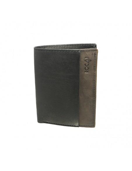 Cartera billetera de piel para hombre Rocai negro